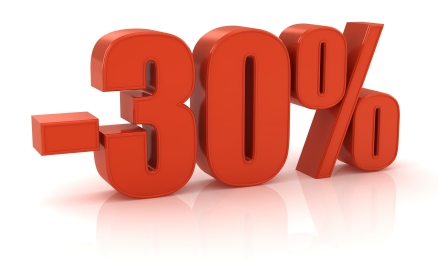 Risultati immagini per - 30 % rabat